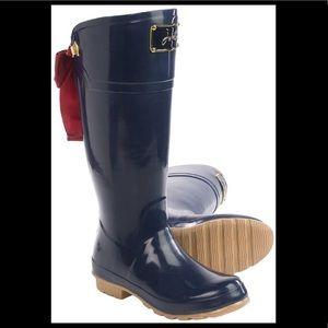 Joules Evedon Premium Wellington Rain Boots w/ bow